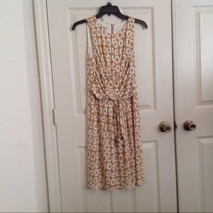 Maggy London Sleeveless Dress with Tie Front